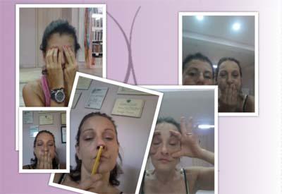 ginnastica facciale collage